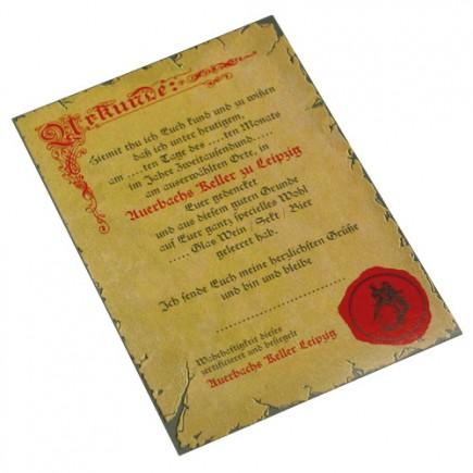 Postkarte Urkunde