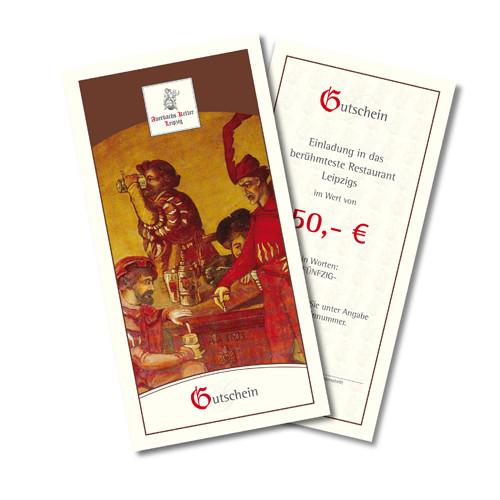 50 Euro Gutschein für Auerbachs Keller Leipzig
