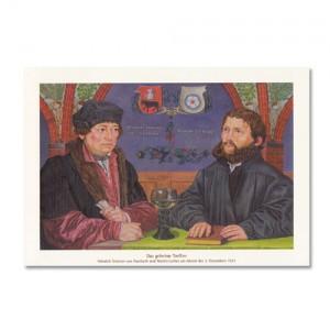 Postkarte - Luther Das geheime Treffen 1