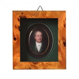 Lithografie mit Portrait von Goethe