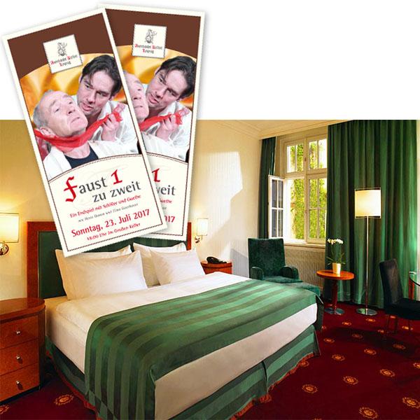 Hotel Fürstenhof Leipzig und Faust I zu zweit