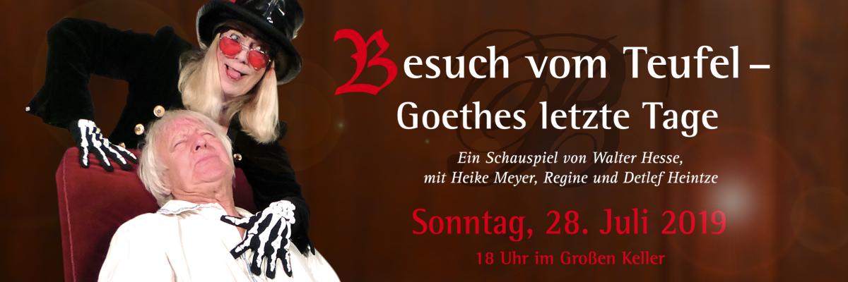 """Tickets für """"Besuch vom Teufel – Goethes letzte Tage"""""""