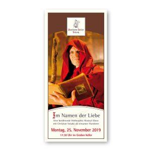 Eintrittskarte Auerbachs Keller Weihnachtsmusicalshow Venzke