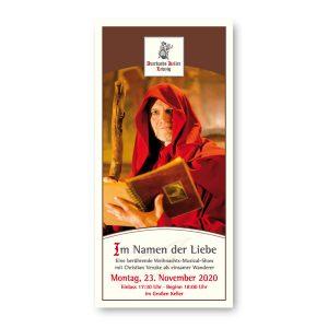 Eintrittskarte für Weihnachtsmusical im Auerbachs Keller mit 3 Gänge Menü am 23. November 2020