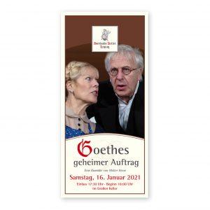Ticket für das Theaterstück Goethes geheimer Auftrag in Auerbachs Keller.