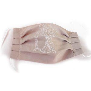 Auerbachs Keller Stoffmaske aus alten Serviettentuch, Damast