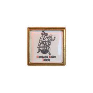 Auerbachs Keller Pin aus Metall (in goldener Fassung)